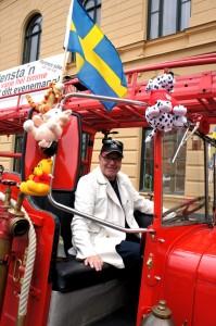 Tommy Jansson i brandbilen