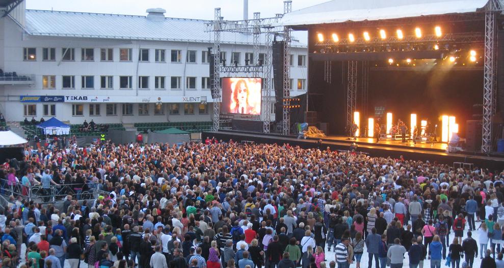 Magnus Uggla på Konsertfesten i Sundsvall